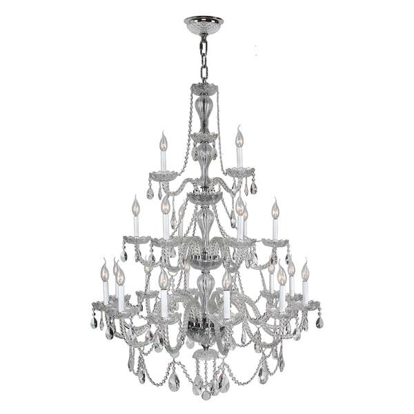 Venetian Light Crystal Chrome Finish Chandelier Clear