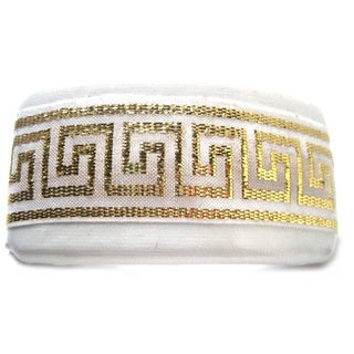 Crawford Corner Shop White and Gold Barrette