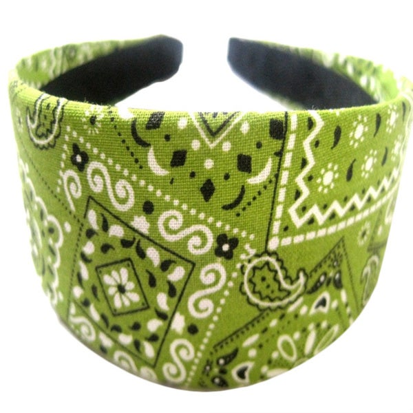 Crawford Corner Shop Green Bandana Headband