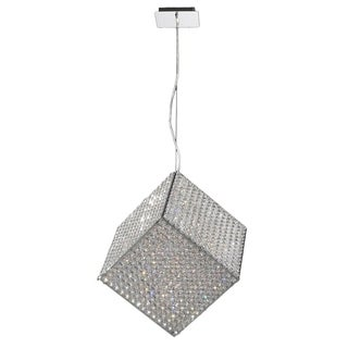 Cube Collection Clear Crystal 13-light Chrome Finish Pendant Light