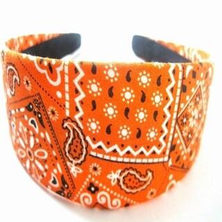 Crawford Corner Shop Orange Bandana Headband