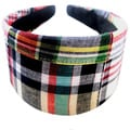 Crawford Corner Shop Navy Multi Plaid Headband