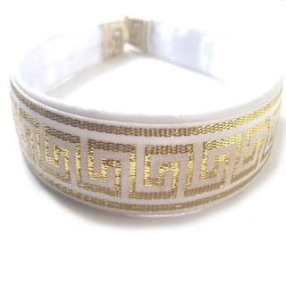 Crawford Corner Shop White and Gold Headband