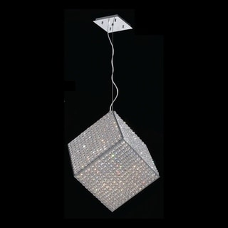 Modern Geometric Cube Collection 13-light Halogen Chrome Finish Crystal Pendant Light