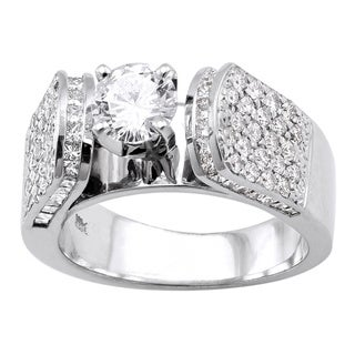 Beverly Hills Charm 14k White Gold 1 7/8ct TDW Diamond Engagement Ring (H-I, SI2-I1)