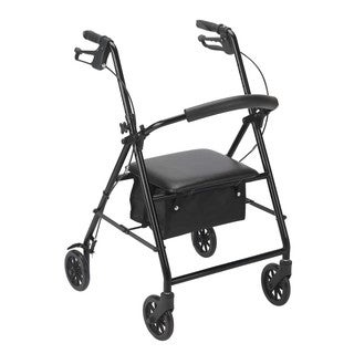 Drive Medical Adjustable Rollator with 6-inch Wheels