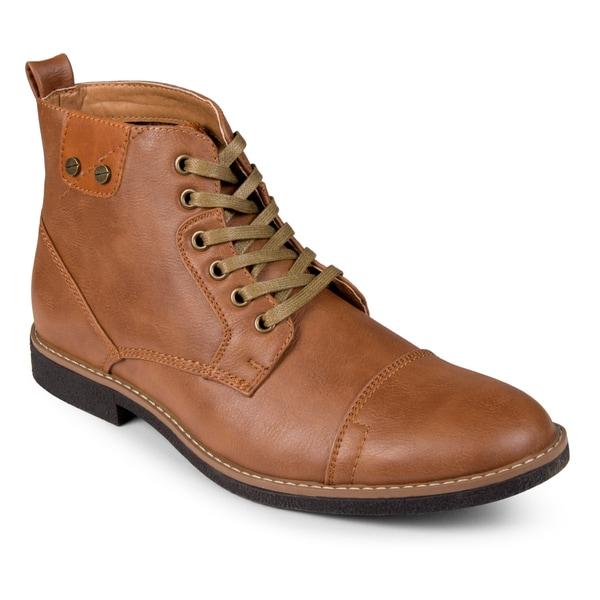 Vance Co. Men's Lace-up Casual Cap Toe Boots