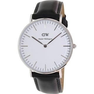 Daniel Wellington Women's Sheffield 0608DW Black Leather Quartz Watch
