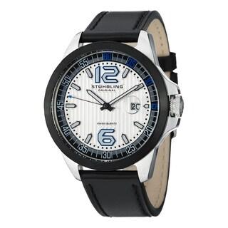 Stuhrling Original Men's Grand Concorso Swiss Quartz Stainless Steel Bracelet Watch