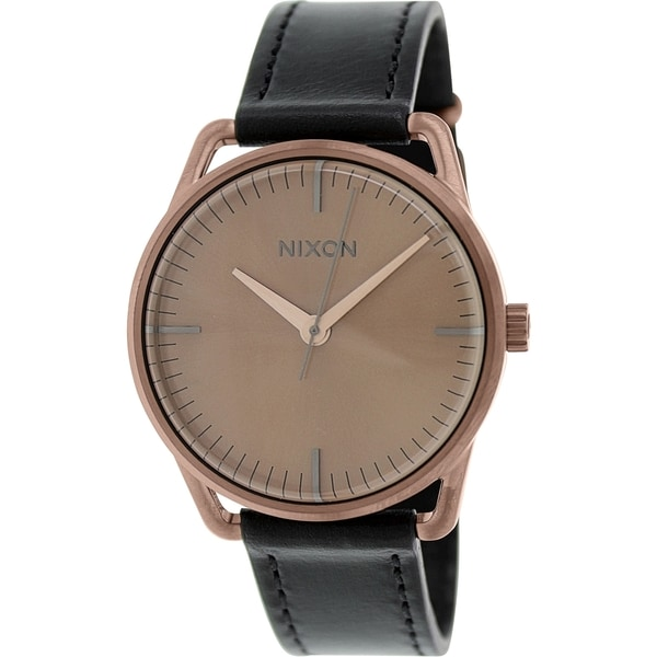 Nixon Women's Mellor A129734 Black Leather Quartz Watch