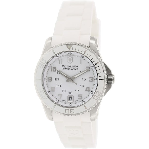 Victorinox Swiss Army Women's Maverick 241492 White Plastic Swiss Quartz Watch