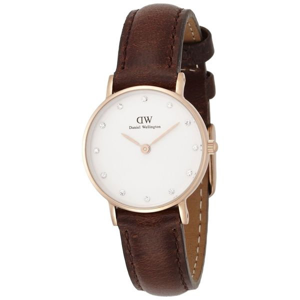 Daniel Wellington Women's Classy Bristol 0903DW White Leather Quartz Watch