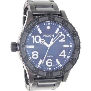 Nixon Men's 51-30 Ti A351001 Black Titanium Swiss Quartz Watch