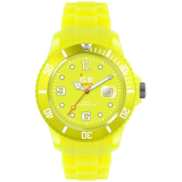 Ice-Watch Women's Ice-Flashy SS.NYW.U.S.12 Yellow Rubber Quartz Watch