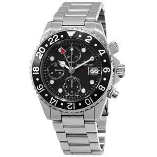 Revue Thommen Men's 17572.6137 'Diver' Black Dial Stainless Steel Chronograph Automatic Watch