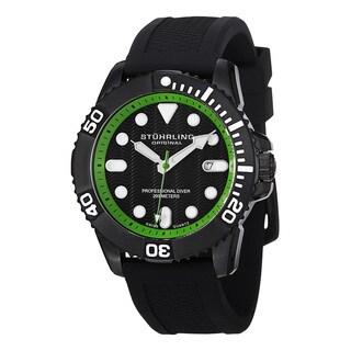 Stuhrling Original Men's Atlantis Sport Swiss Quartz Rubber Strap Watch