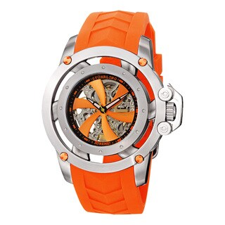 Stuhrling Original Men's Impulse XT Automatic Rubber Strap Watch