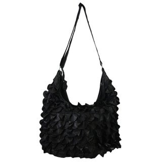 Mllecoco Genuine Leather Ruffles Hobo Handbag