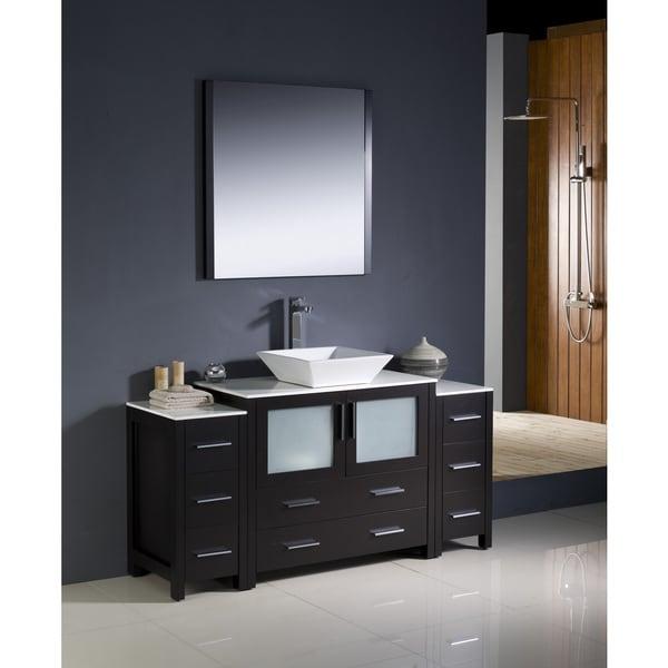 Fresca Torino 60 Inch Espresso Modern Bathroom Vanity With 2 Side Cabinets An