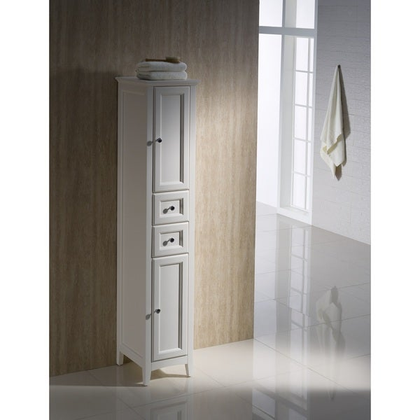 Fresca Oxford Antique White Tall Bathroom Linen Cabinet