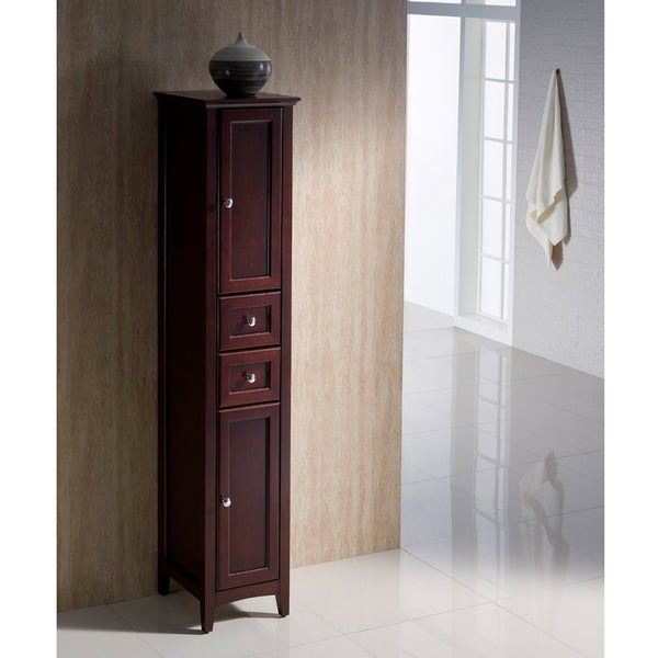 Fresca Oxford Mahogany Tall Bathroom Linen Cabinet
