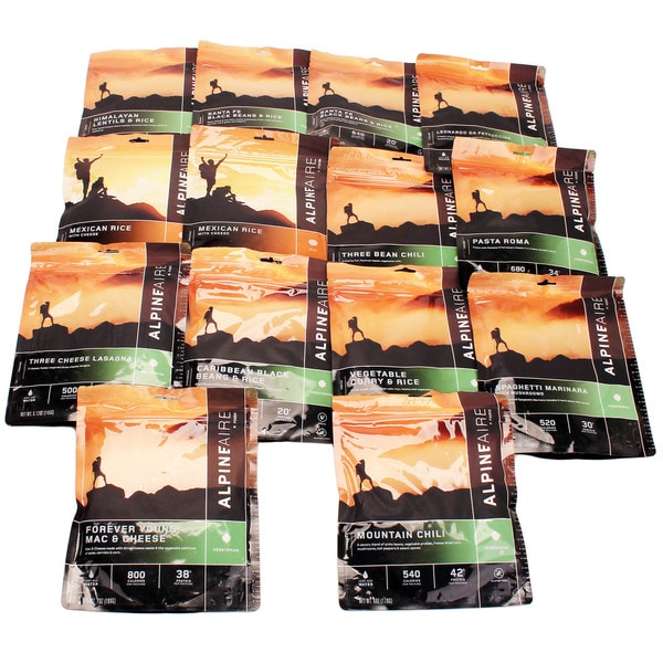 Alpine Aire Foods 7 Day Meal Kit (14 Pouches) - Vegetarian