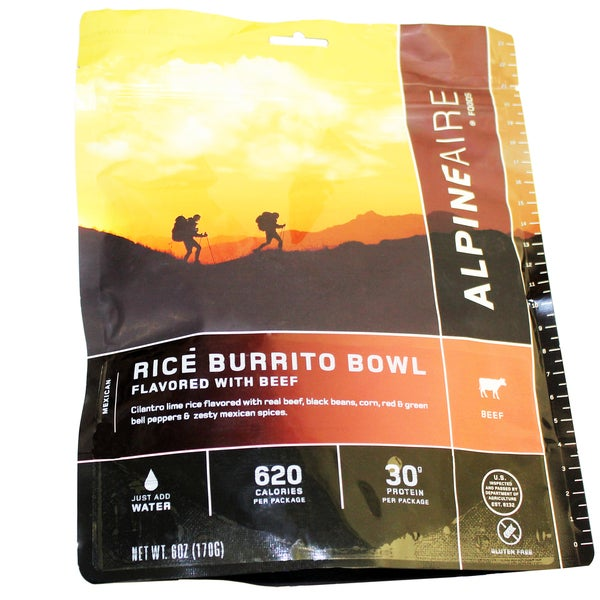 Alpine Aire Foods Beef & Rice Burrito Bowl Serves 2