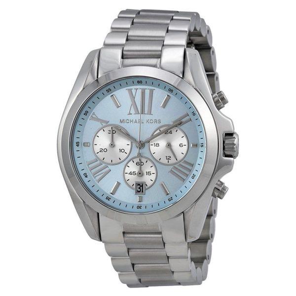 Michael Kors Women's Bradshaw Round Silvertone Bracelet Watch