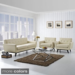 Absorb 3-piece Leather Sofa and Armchairs Living Room Set