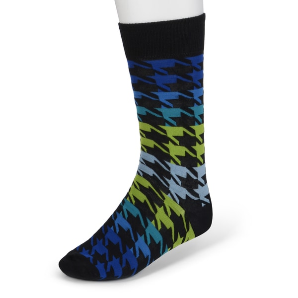 Marc Ecko Men's Colorful Houndstooth Dress Socks