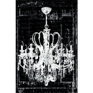 Portfolio Canvas Decor IHD Studio 'Chandelier 3 in Black' Framed Canvas Wall Art