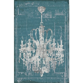 IHD Studio 'Chandelier 3 in Blue' Framed Canvas Wall Art