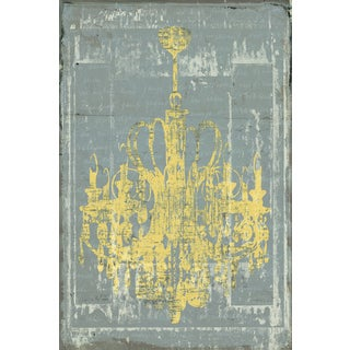 Portfolio Canvas Decor IHD Studio 'Chandelier 3 in Grey' Framed Canvas Wall Art