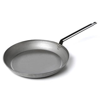 Paderno World Cuisine Heavy Duty Carbon Steel 19.6 inch Frying Pan