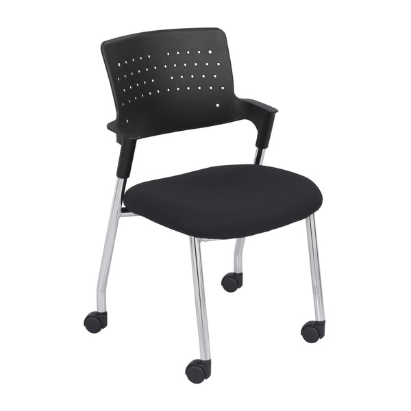 Spry Black Sculpted Foam Guest Chair