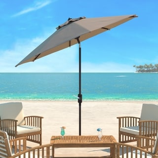 Safavieh Ortega Beige Aluminum Tilt and Crank 9-foot Patio Umbrella