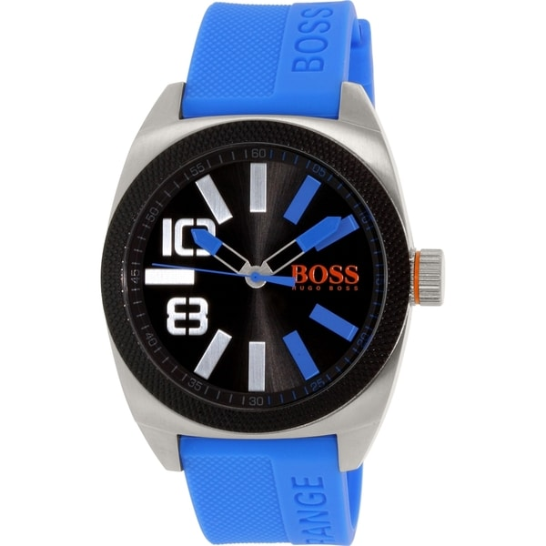Hugo Boss Men's Blue Silicone Quartz Watch