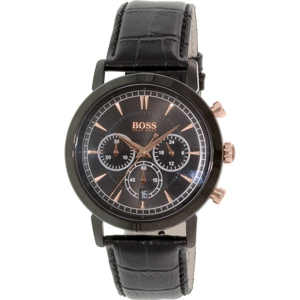 Hugo Boss Men's Black Leather Quartz Watch