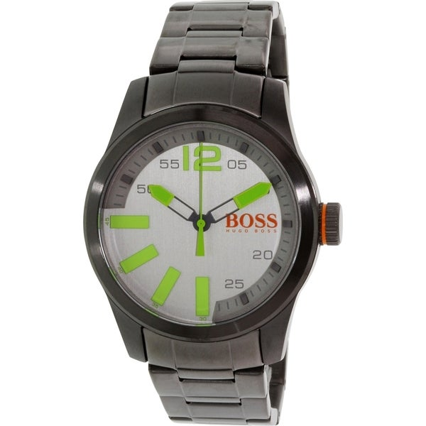 Hugo Boss Men's Grey Stainless Steel Quartz Watch