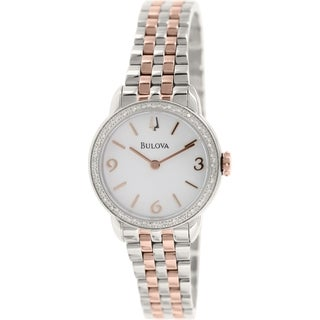 Bulova WoMen's Stainless Steel Quartz Watch