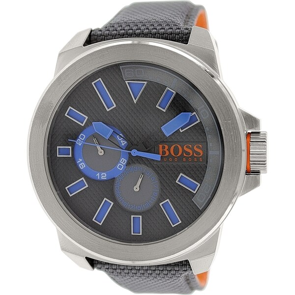 Hugo Boss Men's Grey Leather Quartz Watch