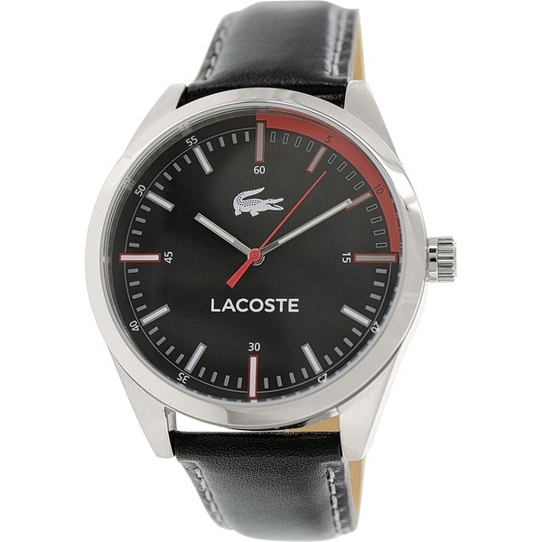Lacoste Men's Black Leather Automatic Watch