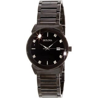 Bulova Men's Black Stainless Steel Quartz Watch