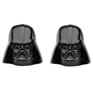 Stainless Steel Star Wars Darth Vader Stud Earrings