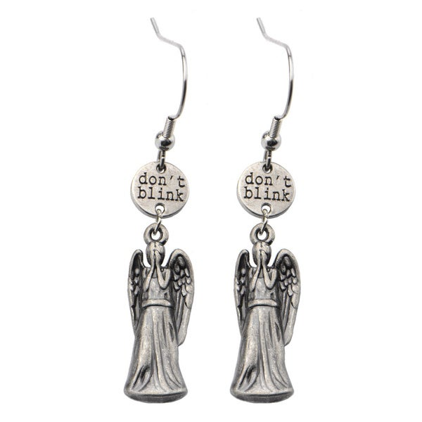 Zinc Alloy Doctor Who Weeping Angel Earrings