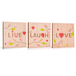 'Live, Love, Laugh' Canvas Gallery Wrapped Art