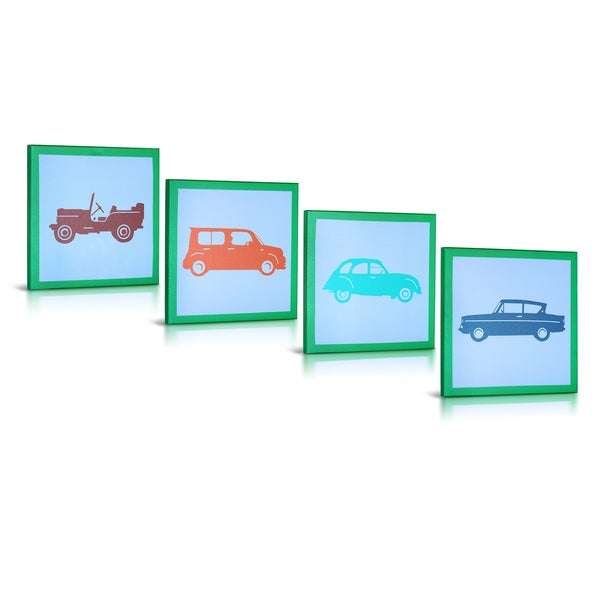 'My Cars' Canvas Gallery Wrapped Art