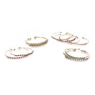 Isla Simone 14k Goldplated Brass Birthstone Crystal Bangle Bracelet