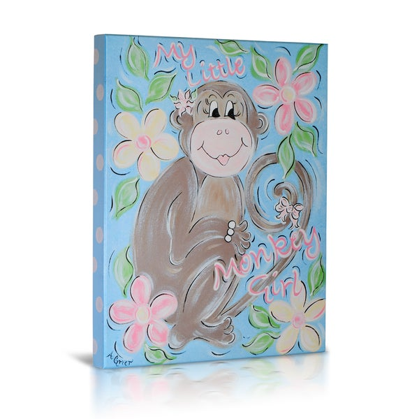 'My Little Monkey Girl' Canvas Gallery Wrapped Art