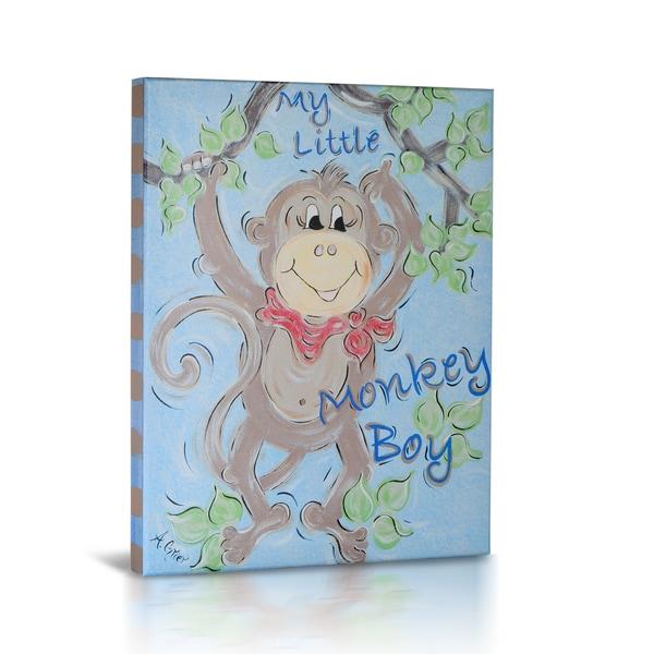 'My Little Monkey Boy' Canvas Gallery Wrapped Art
